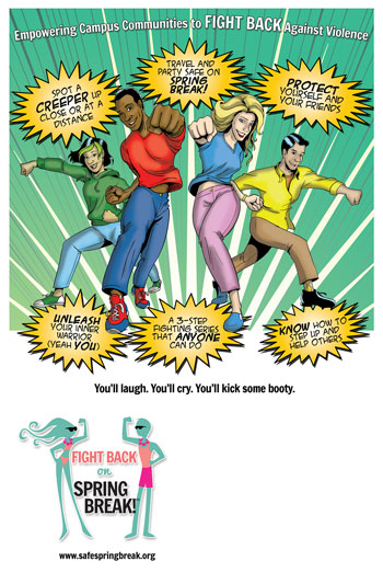 Fight Back on Spring Break poster - PG version
